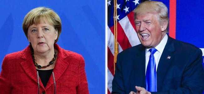 ABD Başkanı Donald Trump, Almanya Başbakanı Angela Merkel'in elini niye sıkmadığını açıkladı!