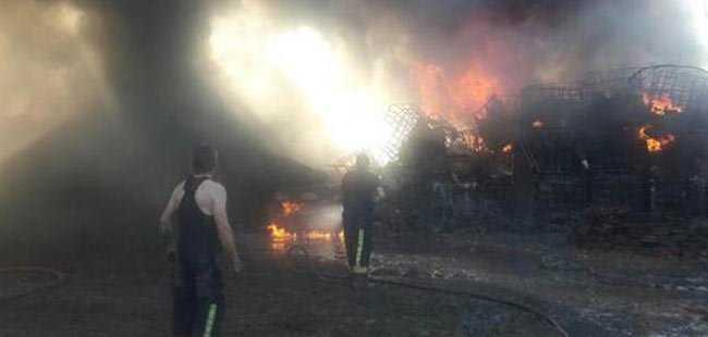 Bursa'da dev fabrika yangını