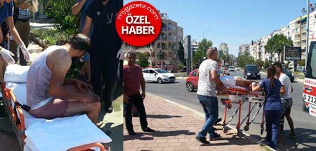 Antalya'daki patlamada işçi ölümden döndü