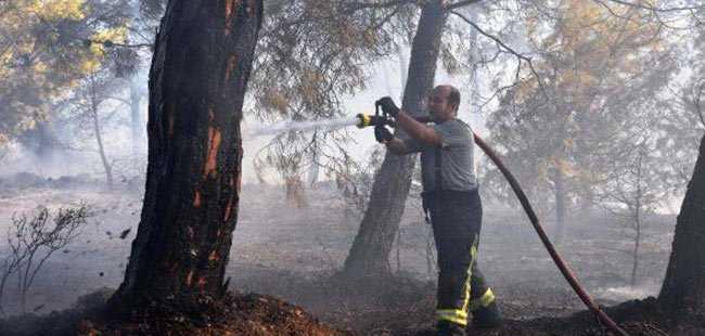 Akdeniz Üniversitesi'nde yangın çıktı