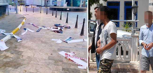 Antalya'da '15 Temmuz' afişi yırtmışlardı