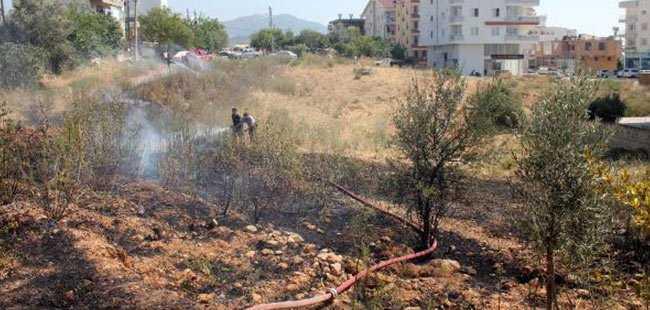 Gazipaşa'da yangın çıktı