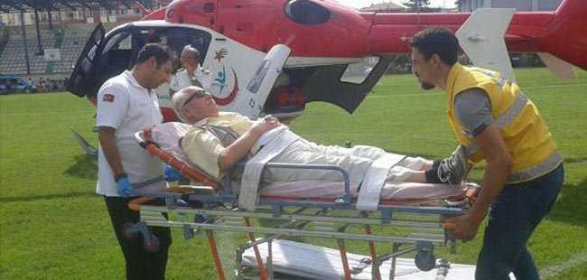 Ambulans helikopterle Antalya'ya getirildi