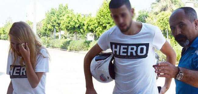 'Hero' tişörtü giyen sevgililer için karar verildi