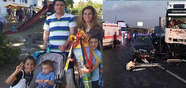 Gurbetçi aile hayatını kaybetti