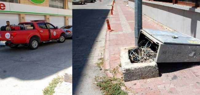 Antalya'da TIR trafoya çarptı