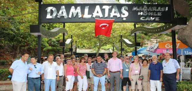 Alman turizmciler Alanya'yı gezdi