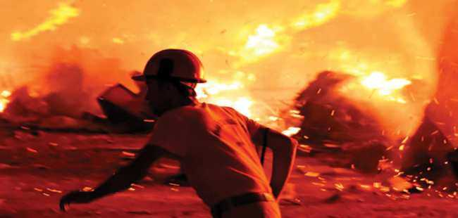 Bodrum'da yangın kabusu