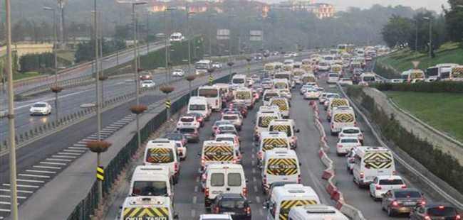 Trafikte dikkat çeken görüntü