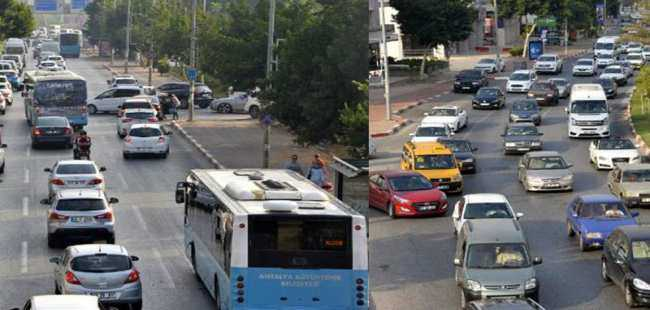 Antalya'da okul trafiği