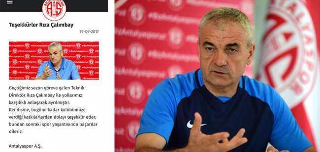 Antalyaspor'dan Çalımbay'a teşekkür