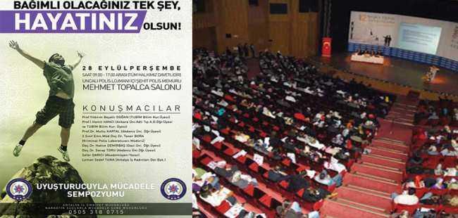 Antalya'da uyuşturucu semineri