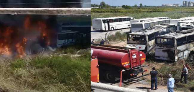 Antalya'da 4 araç kül oldu