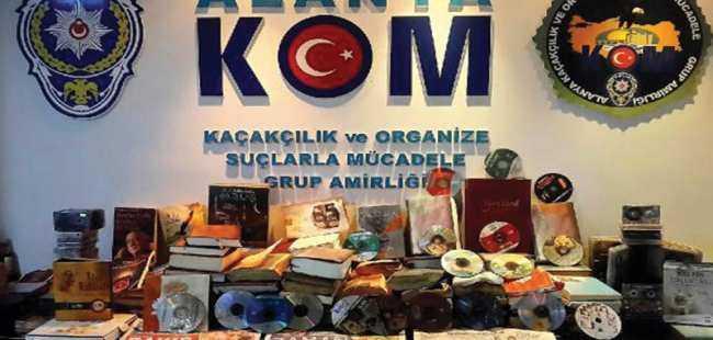 Alanya'da FETÖ'nün kitapları bulundu