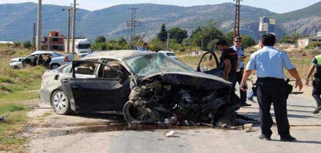 Burdur'da feci kaza