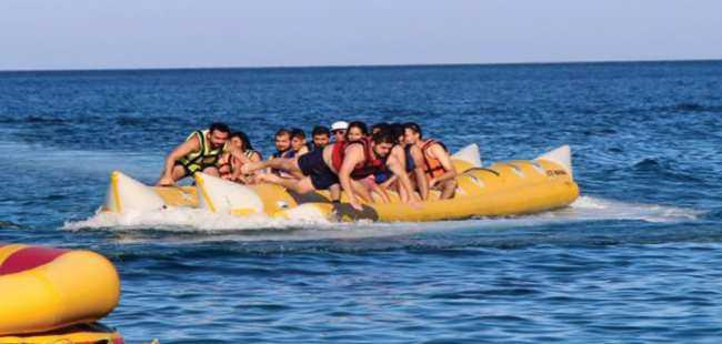Arap turistlerin su sporları ilgisi