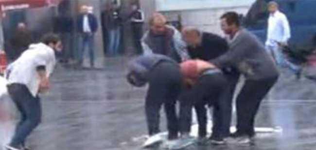 Taksim'de hareketli dakikalar