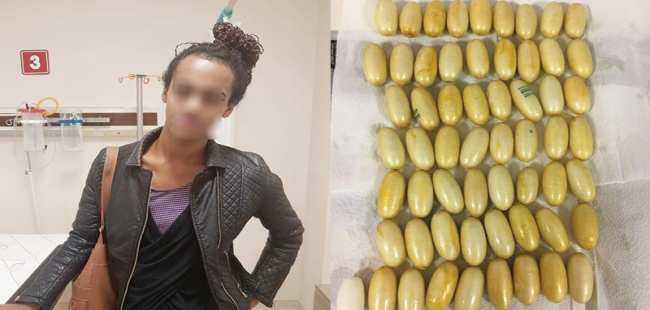 Brezilyalı kadının midesinden kokain  çıktı