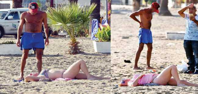 Turistlere plajda 'masaj' eziyeti