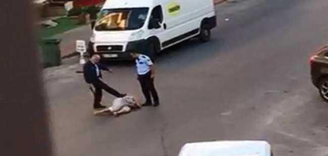 Kadını döven polis tahliye edildi