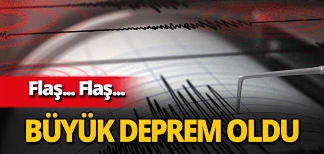 6.6 büyüklüğünde deprem oldu