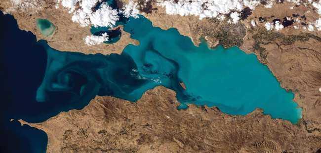 Van Gölü uzaydan böyle görünüyor