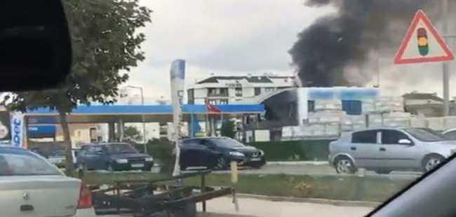Akaryakıt istasyonunda patlama oldu