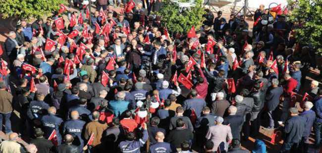 Antalya'da Kudüs tepkisi