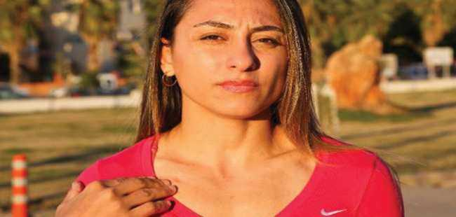 Milli sporcu Antalya'da darp edildi