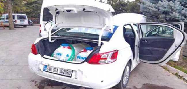 Akaryakıt hırsızlığında kullanılan otomobili ele geçirdiler
