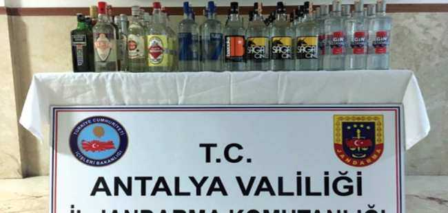 Antalya'da sahte içki yakalandı