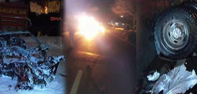 İstanbul'da korkunç kaza