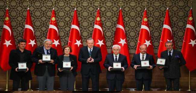 Ödüller Erdoğan tarafından takdim edildi