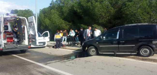 Akdeniz Üniversitesi'nde kaza