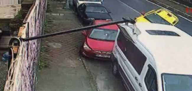 Taksi şoförü bile yaptığı kazaya şaştı