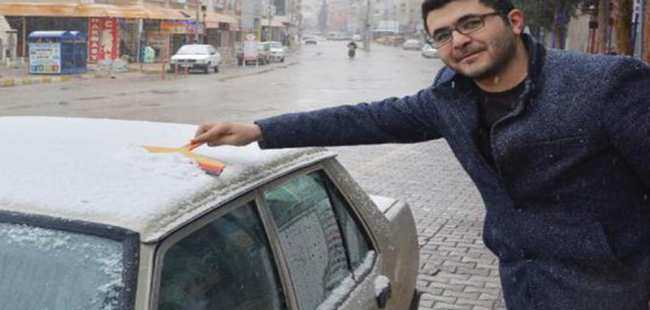 Korkuteli'ne kar yağdı