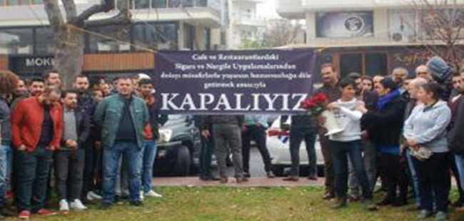 Manavgat'ta sigara yasağı boykotu