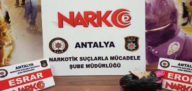 Antalya'da eroin ele geçirildi