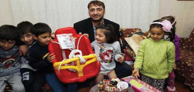 Özge bebek 5'inci yaş gününü kutladı