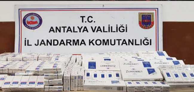 1050 paket kaçak sigara ele geçirildi