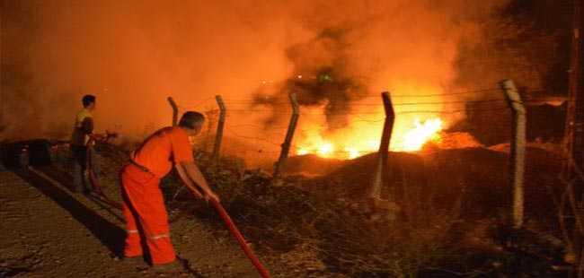 Antalya'da yangın faciası son anda önlendi!