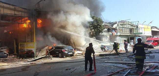 Samsun'da patlama oldu