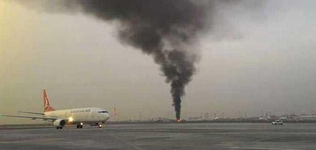 Atatürk Havalimanı'nda yangın çıktı