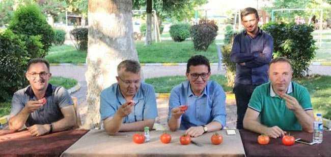 Milletvekili Atay'dan Karatay'a domatesli cevap