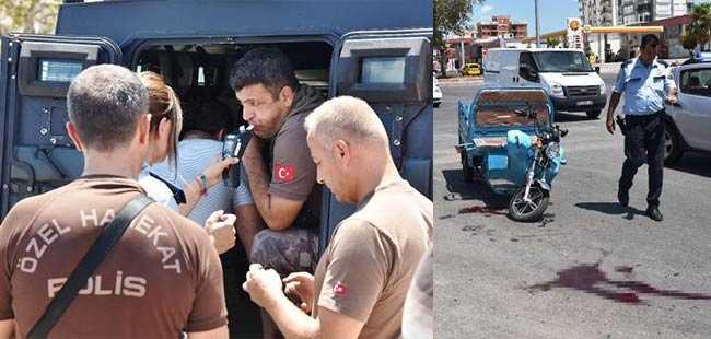 Polis engelli aracıyla çarpıştı