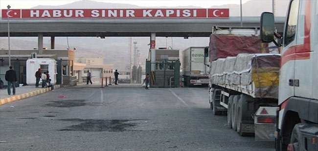 Habur Sınır Kapısı'nda giriş çıkışlar durdu
