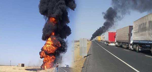 Facia kaza! Tanker ile yolcu otobüsü çarpıştı