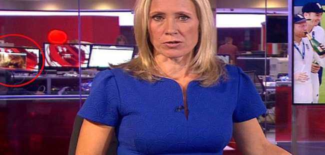 BBC canlı yayınında skandal görüntü