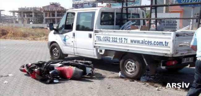 Motosiklet sürücüsü yaşamını yitirdi