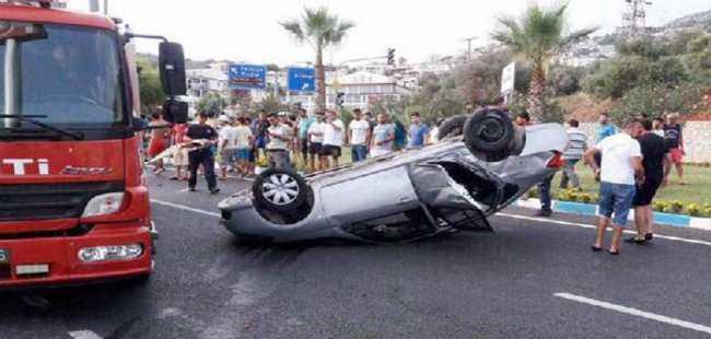 Kazada yaralandılar